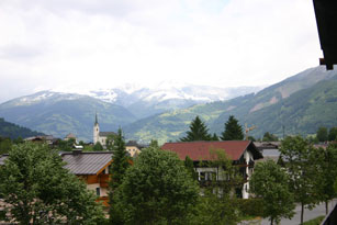 a view of Kaprun Austria from the balcony